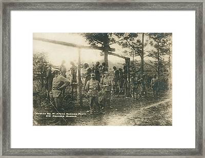 German Sw Africa Executions Framed Print