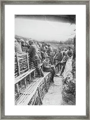 German Trench Framed Print by Library Of Congress
