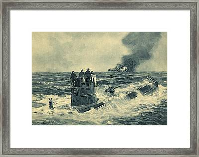 German U-boat Attack, World War II Framed Print by Science Photo Library