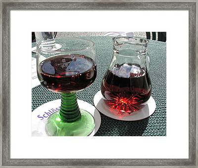 German Wine Framed Print