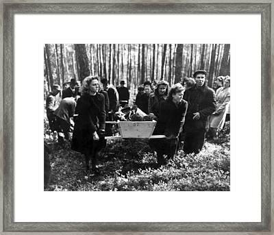 German Women Carry A Corpse Framed Print