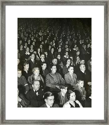 Germans Attend The Theater To View Nazi Framed Print