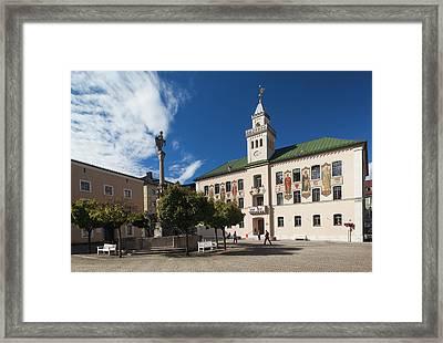 Germany, Bavaria, Bad Reichenhall, Town Framed Print by Walter Bibikow