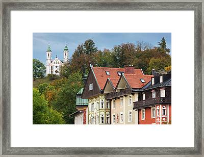 Germany, Bavaria, Bad Tolz, Town View Framed Print by Walter Bibikow