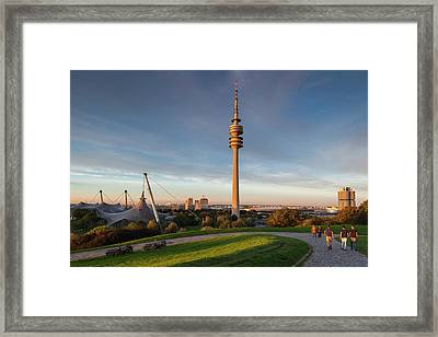 Germany, Bavaria, Munich, Olympic Park Framed Print by Walter Bibikow