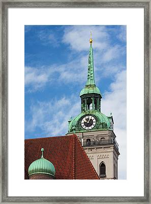 Germany, Bavaria, Munich, Peterskirche Framed Print by Walter Bibikow
