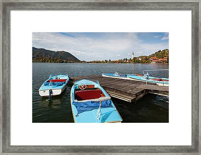 Germany, Bavaria, Schliersee Lake Framed Print by Walter Bibikow