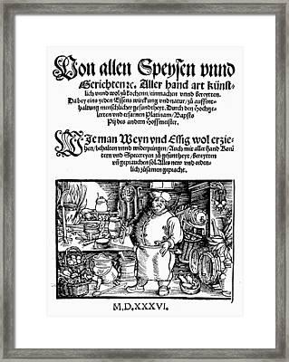 Germany Cookbook, 1536 Framed Print