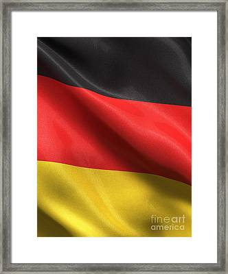 Framed Print featuring the photograph Germany Flag by Carsten Reisinger