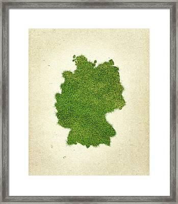Germany Grass Map Framed Print