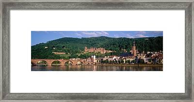 Germany, Heidelberg, Neckar River Framed Print
