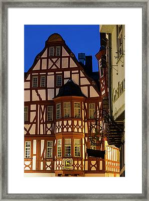 Germany, Hesse, Limburg An Der Lahn Framed Print by Walter Bibikow