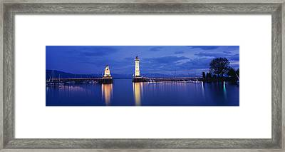 Germany, Lindau, Reflection Framed Print