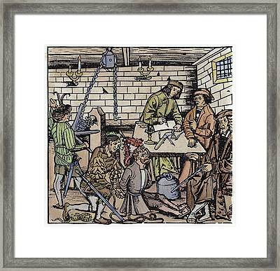Germany Witch Trial Framed Print by Granger