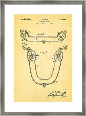 Germer Mercury Vapour Lamp Patent Art 1940 Framed Print