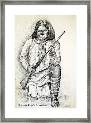 Geronimo's Famous Pose Framed Print