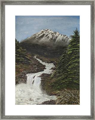 Framed Print featuring the painting Gerri's Mountain by J L Zarek