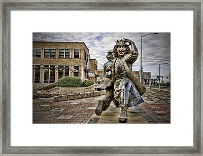 Gertrude Late For Interurban Framed Print by Joanna Madloch