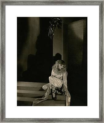 Gertrude Lawrence As Pierrot Framed Print