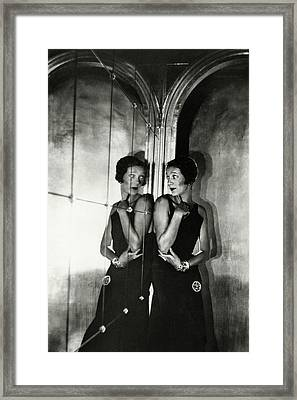 Gertrude Lawrence By A Mirror Framed Print