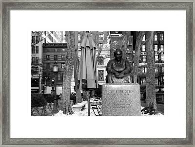 Gertrude Stein Framed Print by Joanna Madloch