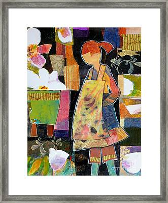 Gerty The Gardener Framed Print by Melody Cleary