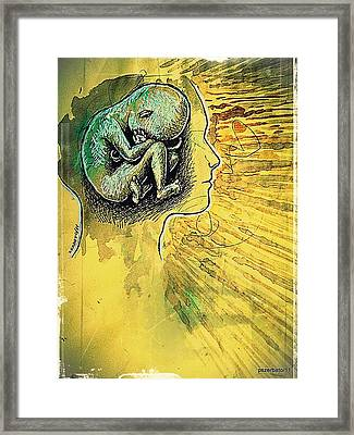 Gestation Of Ideas Framed Print by Paulo Zerbato