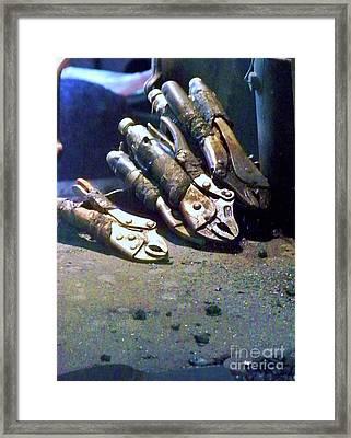 Get A Grip Framed Print by Chuck  Hicks