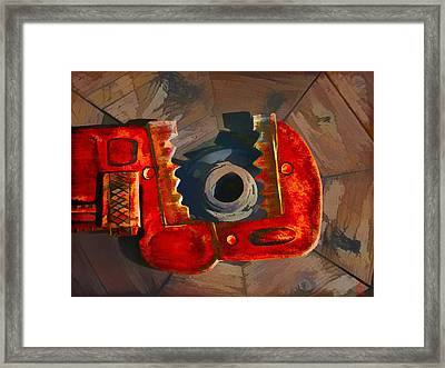 Get A Grip Framed Print by Zygmund Zee