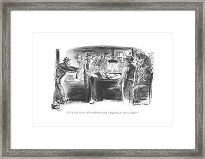 Get A Load Of This! The Prohibition Mob Framed Print by Garrett Price