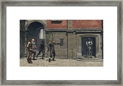 Get Him Lads Framed Print by Fairy Fantasies