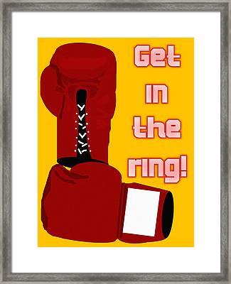 Get In The Ring Framed Print by Pharris Art