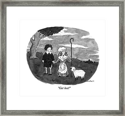 Get Lost! Framed Print by Danny Shanahan