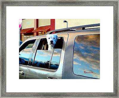 Get Offa My Cloud Framed Print