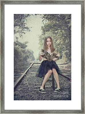 Get On The Right Track Framed Print by Evelina Kremsdorf