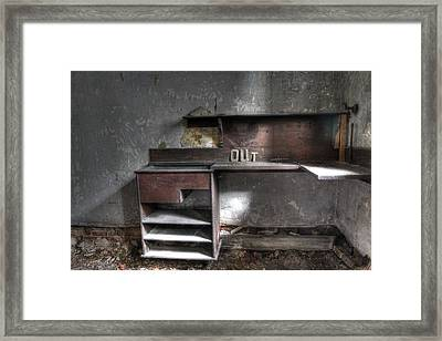 Get Out Framed Print