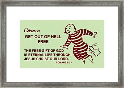 Get Out Of Hell Free Framed Print by Reid Callaway