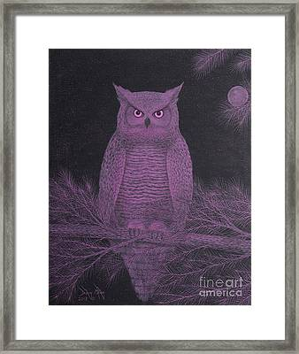 Get Pinked Great Horned Owl Framed Print