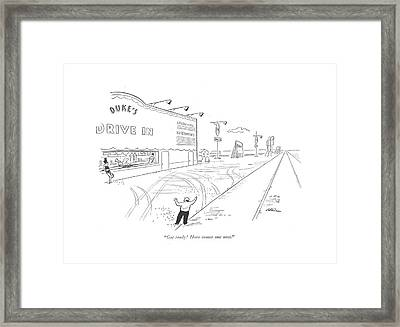 Get Ready! Here Comes One Now Framed Print