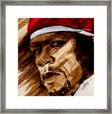 Framed Print featuring the painting Get Rich Or Die Tryin' by Laur Iduc