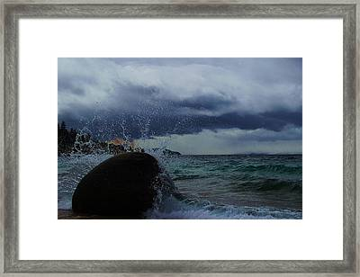 Framed Print featuring the photograph Get Splashed by Sean Sarsfield