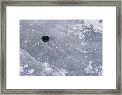Get The Puck Outta Here Framed Print by Steven Ralser