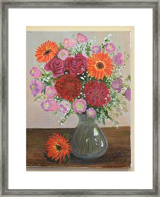 Get Well Flowers Framed Print