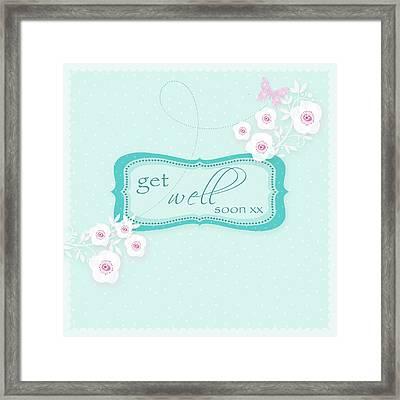 Get Well Soon Framed Print by P.s. Art Studios
