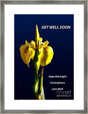 Get Well Soon Framed Print by Robert Bales
