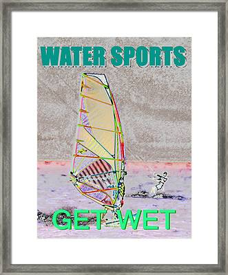 Get Wet Water Sports Framed Print by David Lee Thompson