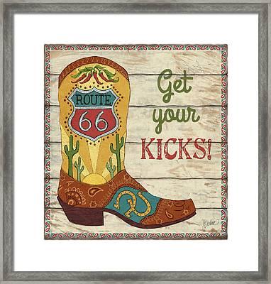 Get Your Kicks Framed Print