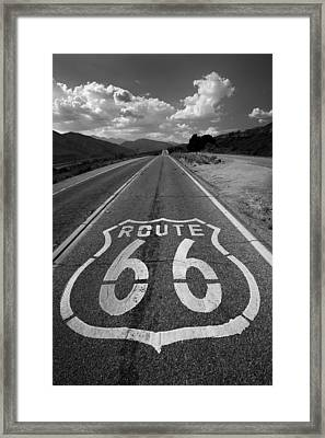 Get Your Kicks On Framed Print by Peter Tellone