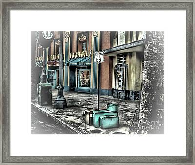 Get Your Kicks On Route 66 Framed Print by Arnie Goldstein