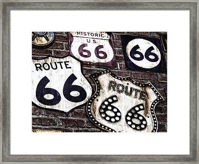 Get Your Kicks On Route 66  Framed Print by Carter Jones